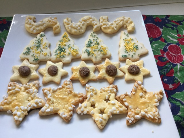 Glutenfreies Weihnachtsgebäck.Weihnachtsgebäck Mit Marzipanteig
